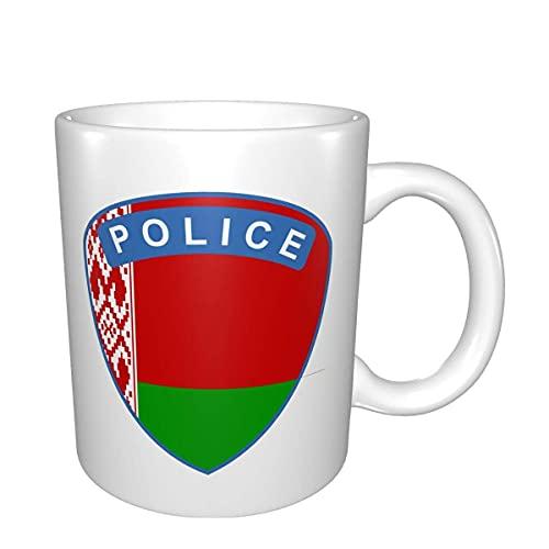 Flagge von Weißrussland Polizeibecher Home Office Kaffeetasse geeignet für Tee Kakao Getreide