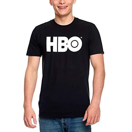HBO Tee Shirt Homme Logo Coton Noir - L