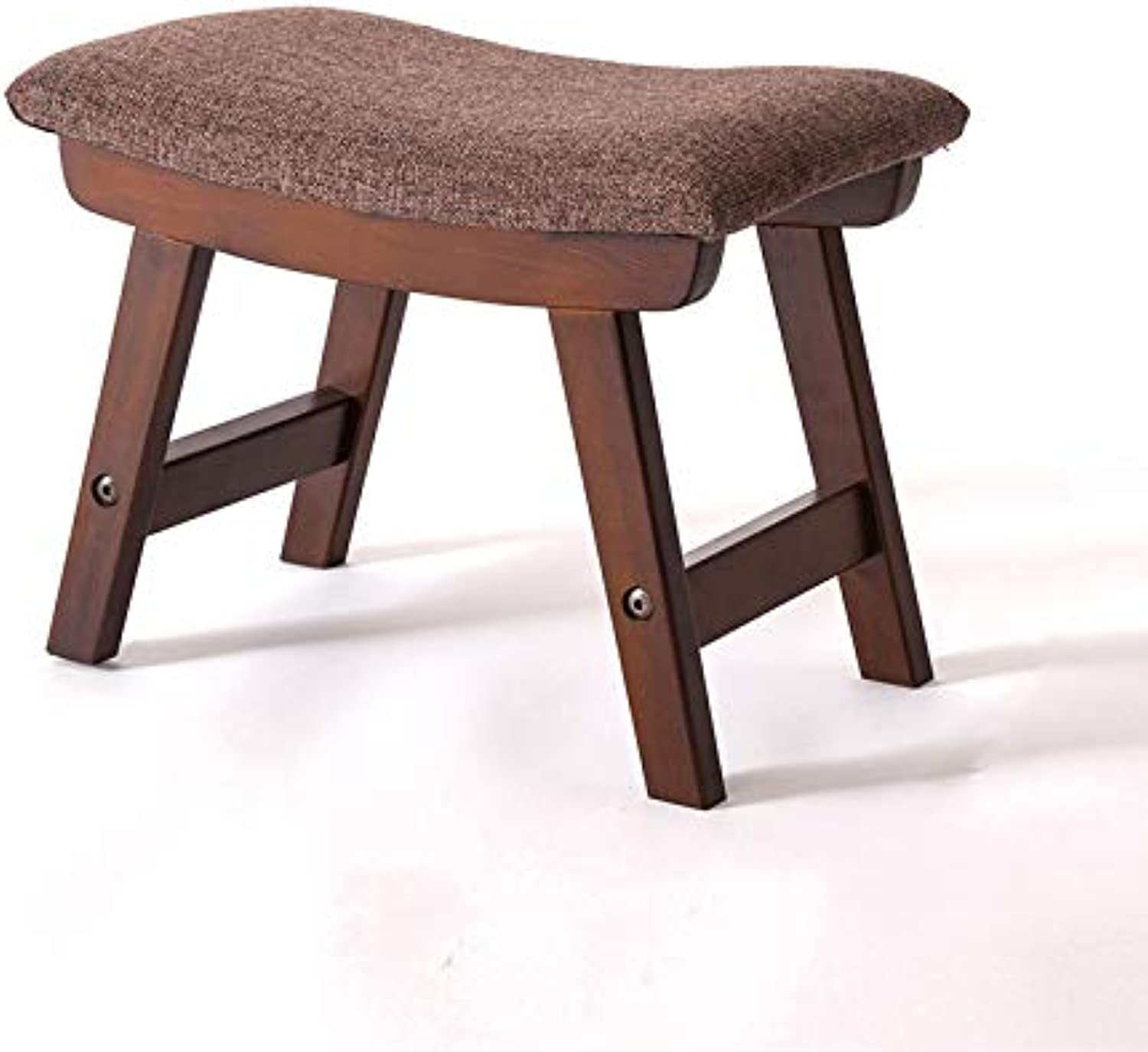 Stool Solid Wood Stool Change shoes Bench Minimalist Style Pine Brown Size  38  24  29cm, 49  31  42cm (color   B, Size   38  24  29cm)
