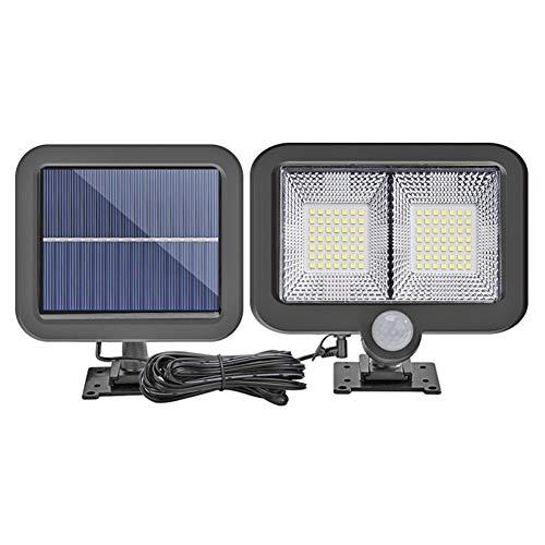 Cob Solarverlichting voor buiten, 100 leds, zonnelicht, tuinbeweging, PIR-sensor, dubbelwandig, zonnelicht, noodgevallen, voor veiligheid 98 led