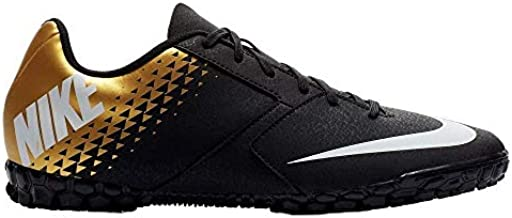 Nike Junior Bomba TF Turf Soccer Shoes (Black/White/Gold) (6)