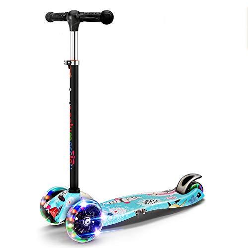 MC-BLL-Children skateboard Kinder-Roller 2-3-6-14 Jahre Alter Scooter hat DREI Vorteile: Die Unterseite ist EIN weicher Gummi aus dickem Stahlblech