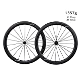 ICAN Aero 50 Superlight 1357g Vélo de Route en Carbone sur Roues de 50mm de Pneu Clincher Tubeless...