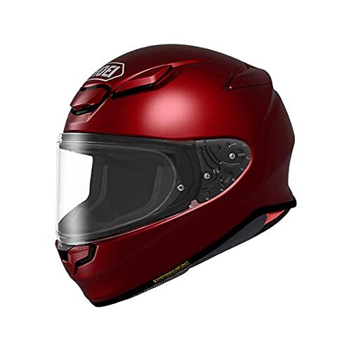 SHOEI ヘルメット Z-8 新型 フルフェイス Z8 バイク メンズ レディース かっこいい おしゃれ シンプル 単色 公道 ツーリング 通販 カラー:ワインレッド サイズ:M