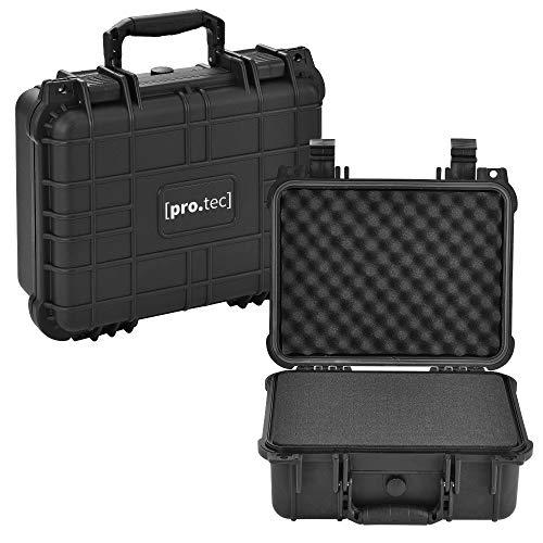 [pro.tec] Schutzkoffer 35 x 29,5 x 15 cm Waffenkoffer Universalkoffer Transportkoffer Fotokoffer Kamerakoffer IP55