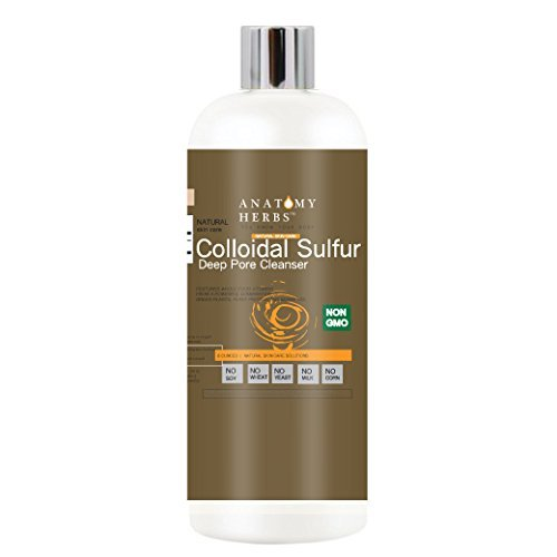Colloidal Sulfur Acne Cleanser (Clear Skin, Reduce Outbreaks, Fade Blemishes)
