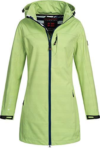 X-Land Damen Softshell-Jacke Kurzmantel Ternitz mit Kapuze Lime XL