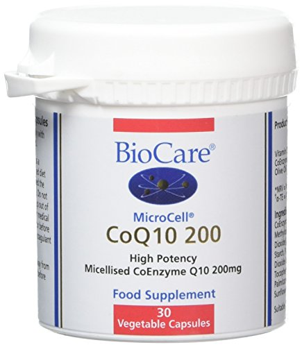 BioCare MicroCell CoQ10 200 Vegetable Capsules, Pack of 30