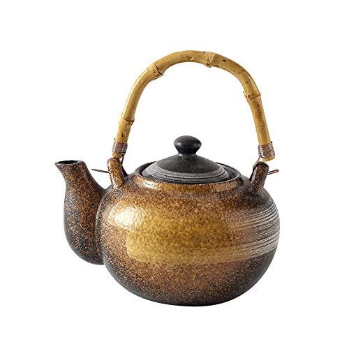 SCRFF Tetera de cerámica, Retro Tetera de cerámica for el hogar Comedor, elevación del Haz Olla con Tapa