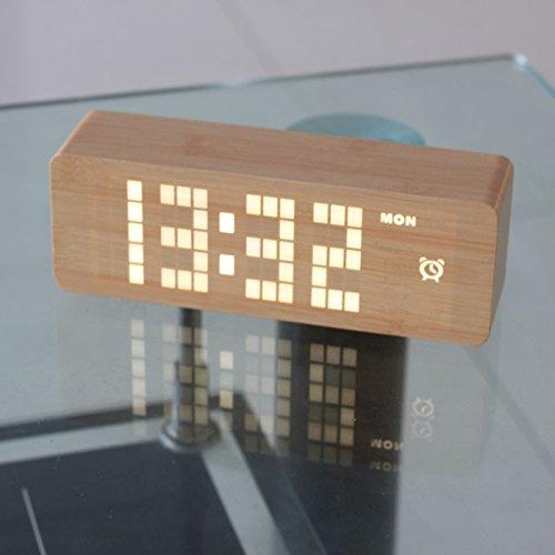Komo Retro Classic Holz- Uhr kreative Swing LED elektronische Uhr Nacht Licht Mute Clock