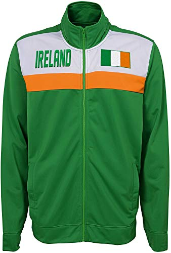 Outerstuff International Soccer Youth Boys 8-20 Track Jacket, Ireland X-Large (18-20)