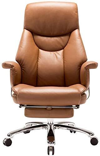 CHHD Bürostuhl, Sessel Stuhl Computer Bürostuhl 130 & deg;Tilt Design Boss Stuhl Sofa Weiche Armlehne Doppelte Rückenlehne Imitation Leder Kissen Lagergewicht 150kg (Farbe: Schwarz)