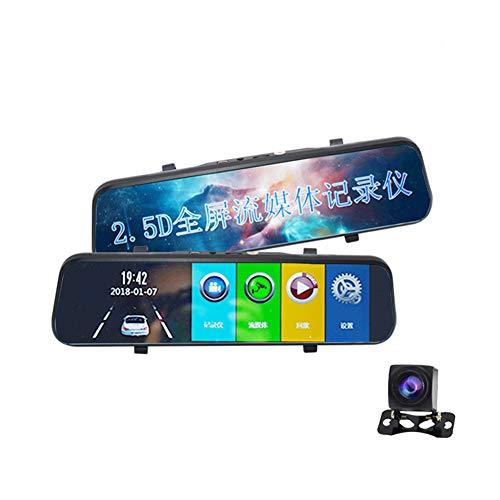 YSHtanj Auto-Recorder/DVR-Recorder, 25,4 cm (10 Zoll), Stream-Media, Videokamera, DVR, Vollbildschirm, Rückspiegel-Recorder