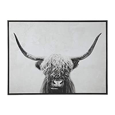 Signature Design by Ashley - Pancho Highland Cow Wall Art - Casual - Black/White by Ashley Furniture