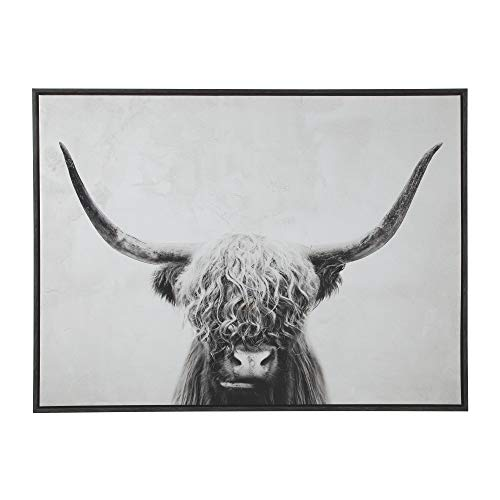 Signature Design by Ashley - Pancho Highland Cow Wall Art - Casual - Black/White