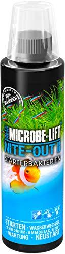 MICROBE-LIFT Nite-Out II – Bakterienstarter für Süßwasser & Meerwasser Aquarium, für schnellen Fischbesatz, 236 ml