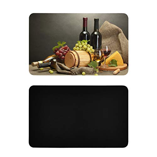 Square Dishwasher Magnet Covers Bottle Wine And Grape On Table Fun Fridge Magnets Personalized Pvc Dishwasher Magnet Cover Funny Kitchen Accessories 4x2.5 Inch