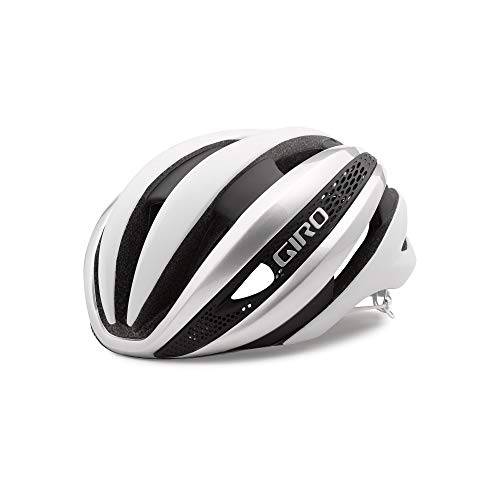 Giro Fahrradhelm Synthe MIPS Casco de Ciclismo, Unisex Adulto, Blanco-Blanco/Plateado, L