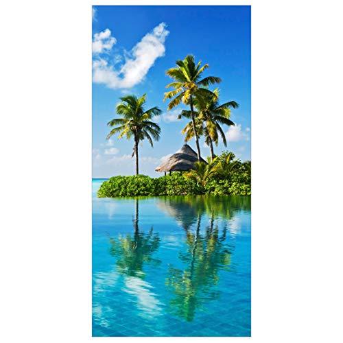 Bilderwelten Raumteiler Tropisches Paradies 250x120cm inkl. transparenter Halterung