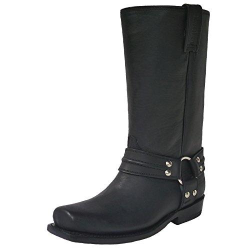 Mezcalero Biker Boots Tulsa, Farbe:Black;Größe:44