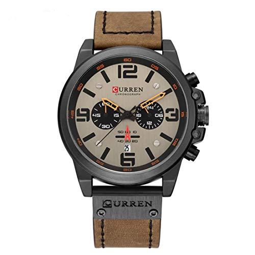 Curren Women Men Unisex Reloj De Pulsera Sporty-Military Alloy Quartz Analogous 8314