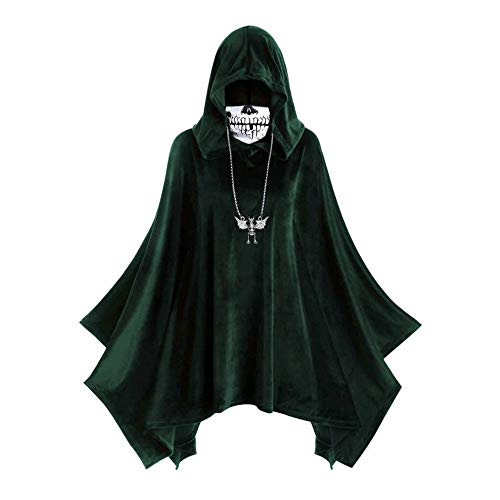 PPTS Halloween Cape máscara cara máscara con capucha hombres y mujeres chaqueta