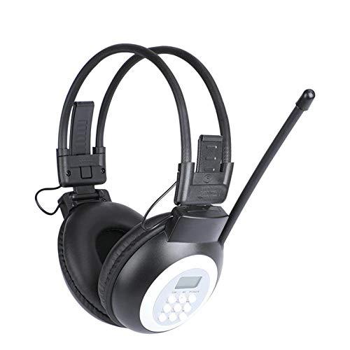 Auriculares de radio FM, defensores de oído con radio FM, FM digital de seguridad para oídos, Bluetooth FM Radio Defensores de oídos, para estudiantes a los exámenes puede escuchar claramente (negro)