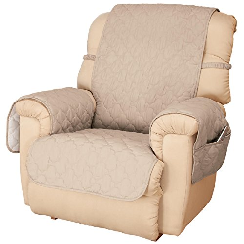 OakRidge Deluxe Microfiber Recliner Chair Cover, Beige