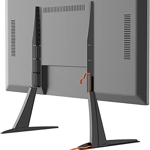 Soporte Universal TV Desde 27 Pulgadas a 55 Pulgadas con Gestión de Cables y Ajuste de Altura HT01B-001