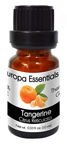 Europa Essentials 100% Pure Therapeutic Grade Essential Oils, 36 Aromatherapy Scents Collection – Tangerine, 10ml