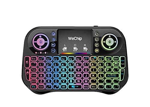 Mini clavier sans fil avec pavé tactile souris combo allemand disposition clavier Smart TV Télécommande pour Android TV Box, HTPC, IPTV, XBOX360, PC, PAD Mini clavier sans fil