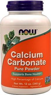 NOW Calcium Carbonate Pure Powder -- 12 oz - 2PC