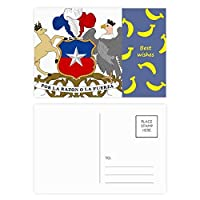 チリ国家エンブレムの国 バナナのポストカードセットサンクスカード郵送側20個