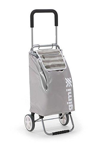 Vileda Flexi Einkaufstrolley, Rahmen aus Stahl, Tasche: Polyester, grau