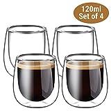 Glastal Doppelwandige Espressotassen Espresso Glaser Set Thermoglas Kaffeeglas Trinkgläser...