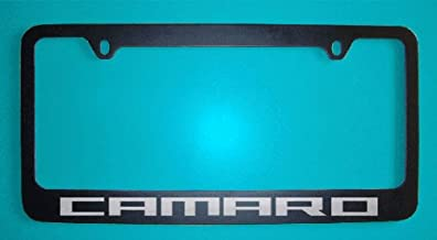 Chevrolet Camaro Black License Plate Frames V2 (Zinc Metal)