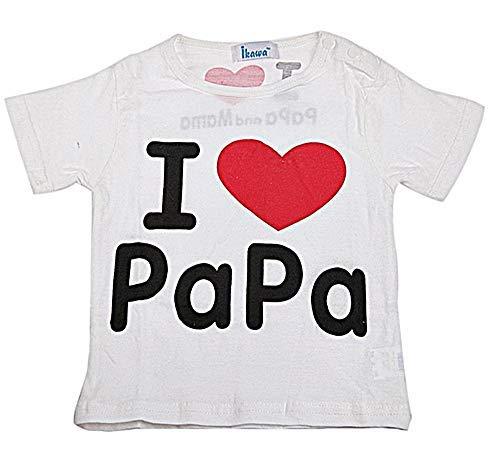 Inception Pro Infinite Camiseta de niña – Camiseta infantil – Io Amo Papa – I Love Papa – Idea de regalo original – Blanco