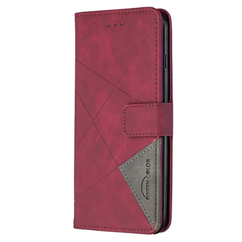 Hülle für iPhone 6S Plus/6 Plus Hülle Handyhülle [Standfunktion] [Kartenfach] [Magnetverschluss] Tasche Etui Schutzhülle lederhülle klapphülle für Apple iPhone 6SPlus/6Plus - JEBF040014 Rot