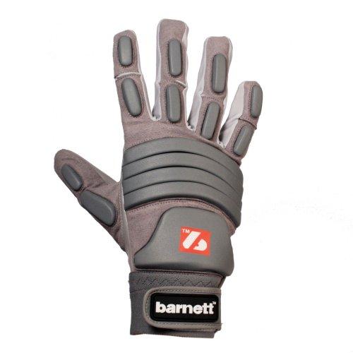 FLG-03 guantes de fútbol americano linemen pro , OL,DL (Gris, M)