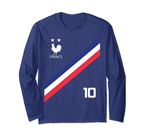 France Soccer Jersey Style Team Men Women Kids Flag French Long Sleeve T-Shirt