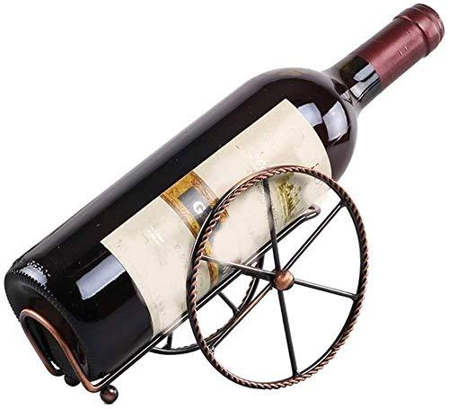 HJXSXHZ366 Estantería de Vino Inicio Vino Enfriador de Vino Rack Adornos creativos Estilo Minimalista estanterías metálicas Europea Estante de Vino pequeño