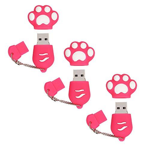 Memoria USB 64GB Flash Drive USB 64GB Memoria Stick 64GB Pen Drive Unidad Flash USB para Almacenamiento de Datos Externo (3 Piezas Rosa)