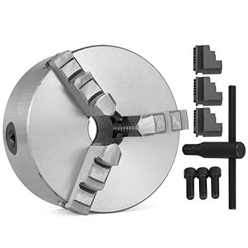 Mophorn Portabrocas de Metal Profesional Mandril de 3 Quijadas Tamaño 130 mm para Torno