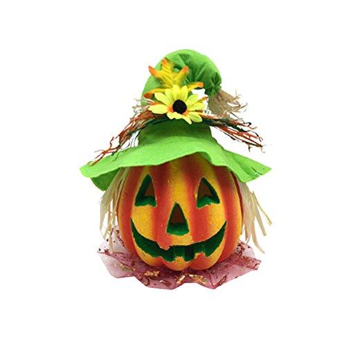 BESTOYARD Halloween Kürbis Laterne Jack-o-Laterne Dekoration Scary Modell mit batteriebetriebenen Figur Statue Spukhaus Dekoration
