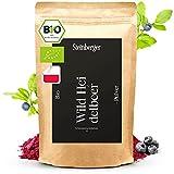 Bio Wildheidelbeer-Pulver 100g gefriergetrocknet | 100% natürlich ohne Zuckerzusatz u. ohne Zusatzstoffe ideal für Smoothie Bowls u. Superfood Shakes | Heidelbeerpulver vegan handgepflückt