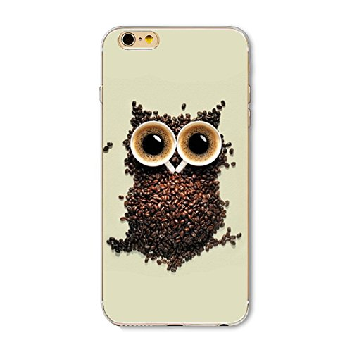 iPhone SE (2020) Case/iPhone 8 Case/iPhone 7 Case(4.7inch),Blingy's Owl Style Soft TPU Protective Case Compatible for iPhone SE (2020)/iPhone 8/iPhone 7 (Coffee Owl)
