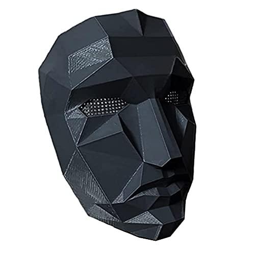 Allsmart Squid Game Mask, Drama coreano 2021 Juego de calamar para hombre, máscara de cosplay, máscara de televisión coreana, accesorio para disfraz de Halloween