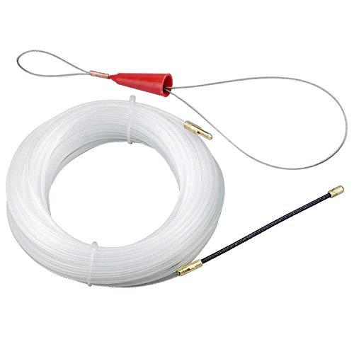 Kabel Einziehhilfe 20 Meter Durchmesser 3mm Nylon Kabelverlegung Einziehdraht Durchziehhilfe Einziehhilfe Einziehfeder