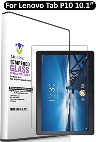 MOBIVIILE® 2.5D Curved 0.3mm Flexible Gorilla Tempered Glass Screen Protector Shield for Lenovo Tab P10