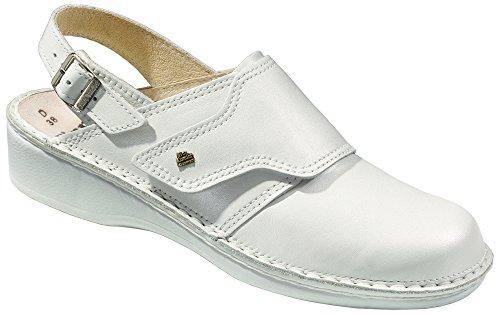 Finn Comfort Assuan, Mules Femmes - Blanc - weiß Perlato, Taille 34